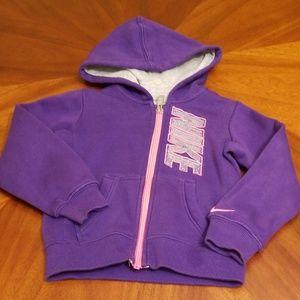 Nike 2T toddler hoodie zip up jacket B205:4:719